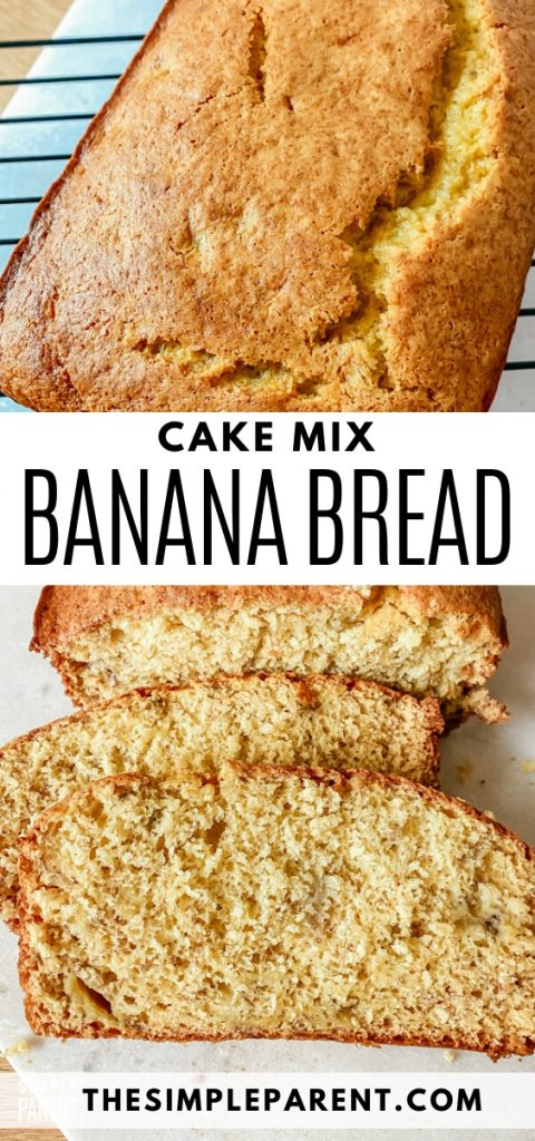 Easy 3-Ingredient Cake Mix Banana Bread Recipe