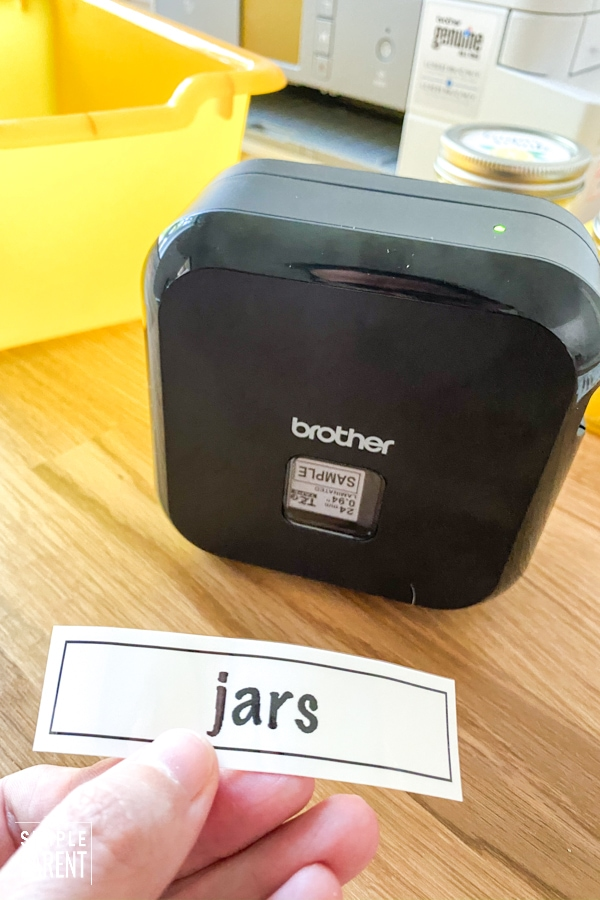 Label printed with Brother label maker