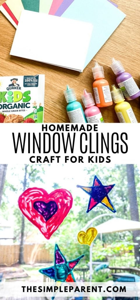 How to Make Homemade Window Clings with Fabric Paint