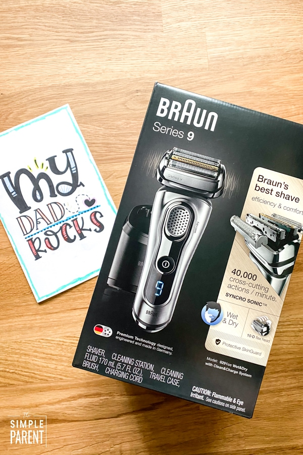 Braun Electric Shaver Series 9 with Printable Father's Day Card