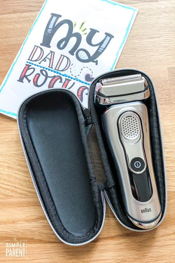 Braun Electric Shaver Series 9 in travel case with Printable Father's Day Card