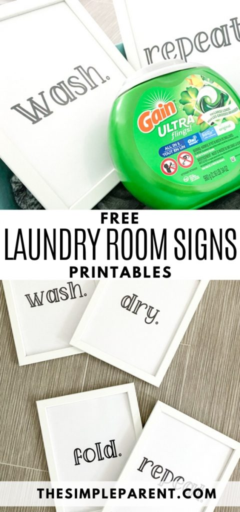 Free Printable Laundry Room Signs