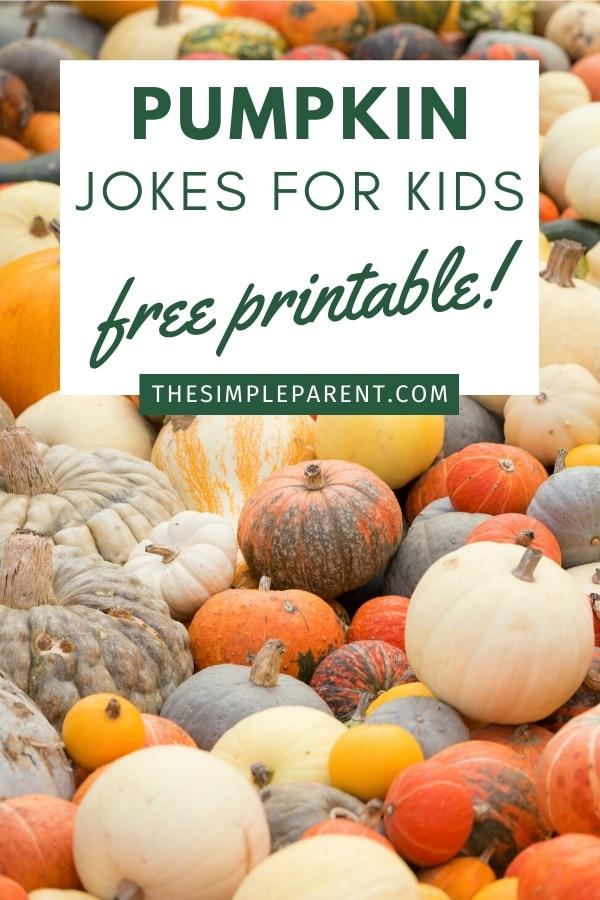 Free Printable Pumpkin jokes for kids