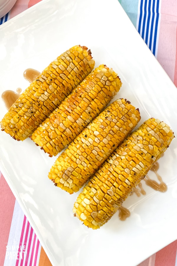 Sweet Tea Oven Roasted Corn on the Cob Recipe