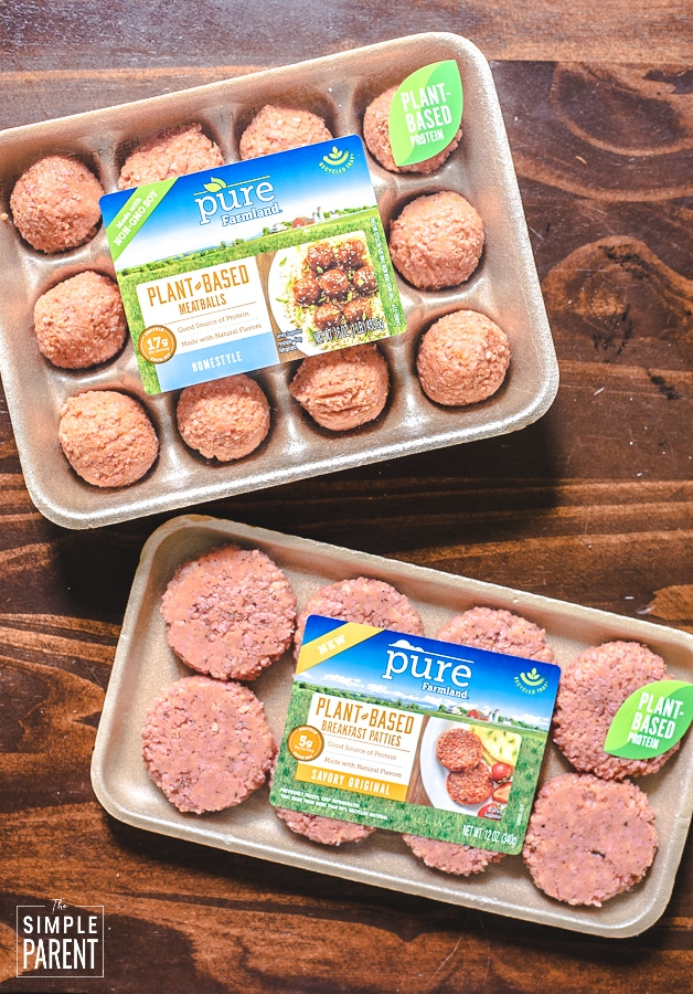 Pure Farmland plant-based meatballs and patties