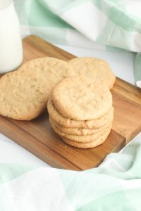 Bisquick Peanut Butter Cookies on wooden cutting board