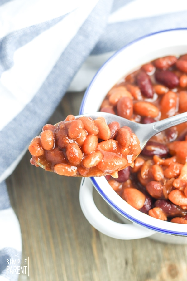 Spoonful of Crockpot BBQ beans