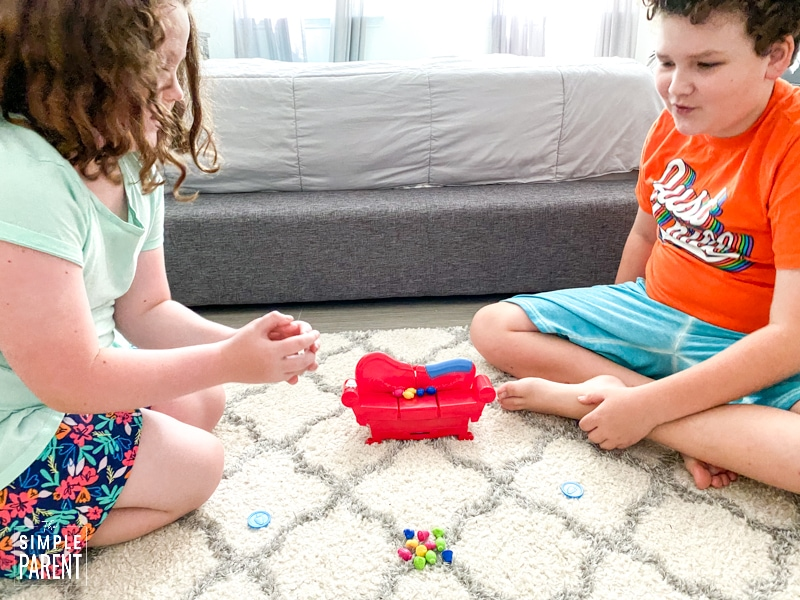 Kids playing Grouch Couch game