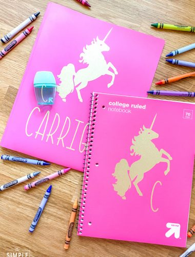 Cricut Back to School Ideas for School Supply Personalization
