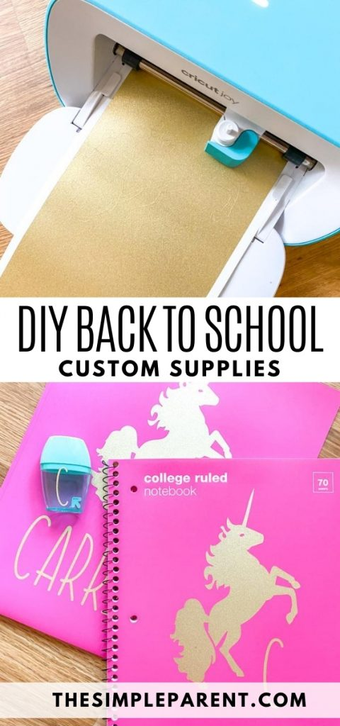 Personalized Cricut Back to School Ideas