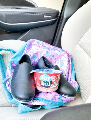 Kellogg's joybol with child's dance shoes