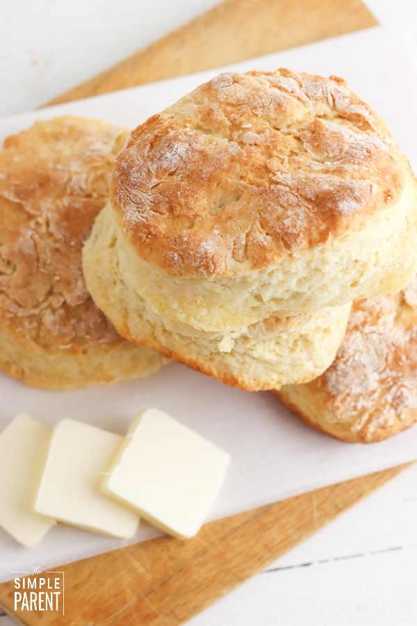 7 Up Biscuit Recipe with pats of butter