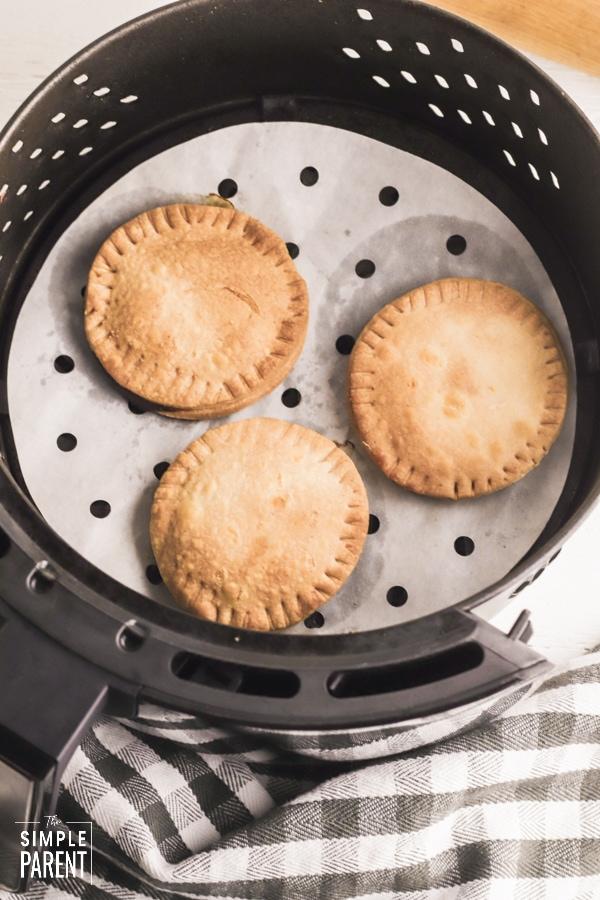 Hand pies in air fryer basket