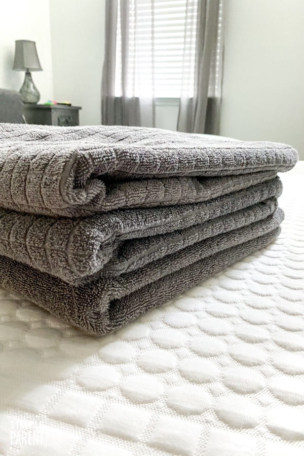 Stack of gray towels