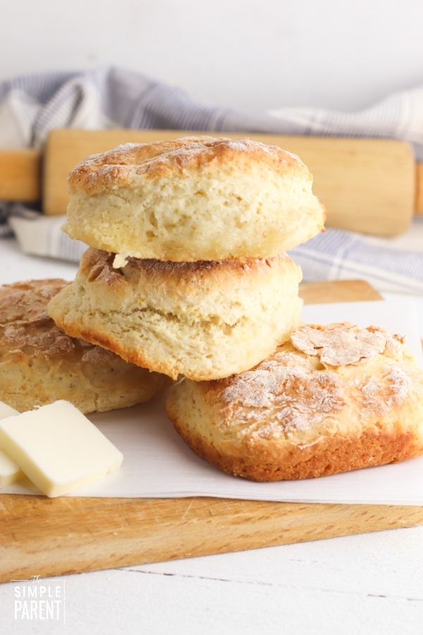 Stack of homemade biscuits
