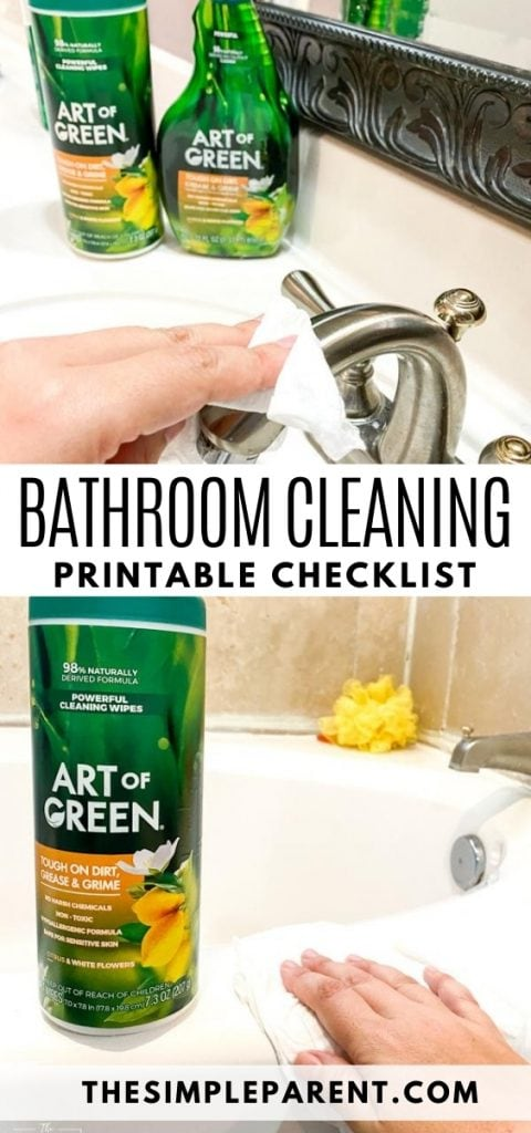 Free Printable Bathroom Cleaning Checklist