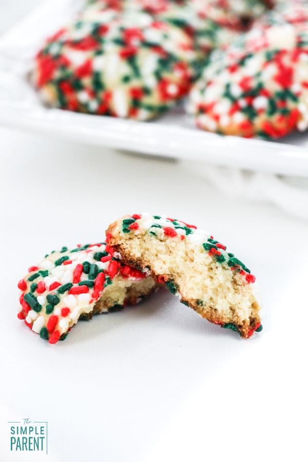 Baked sugar cookies with sprinkles