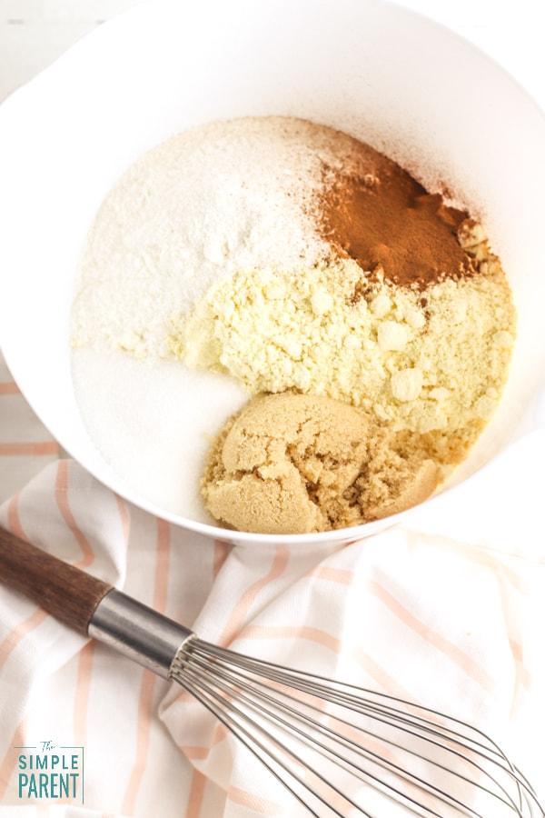 Crack Cake Recipe Ingredients in mixing bowl