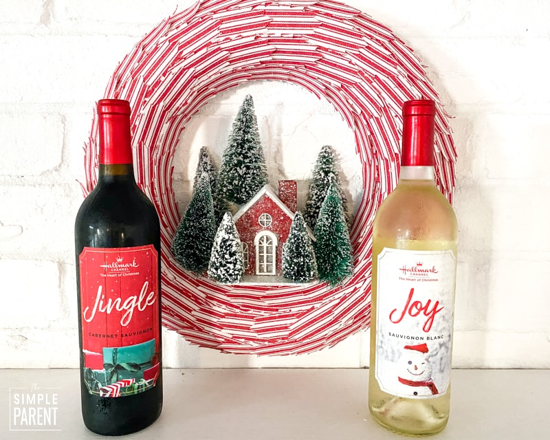 Hallmark Channel Wines and Christmas Wreath