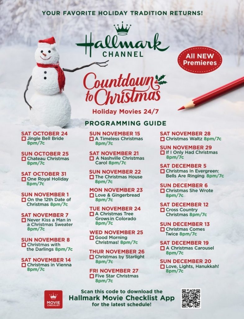 Hallmark Channel's Countdown to Christmas 2020