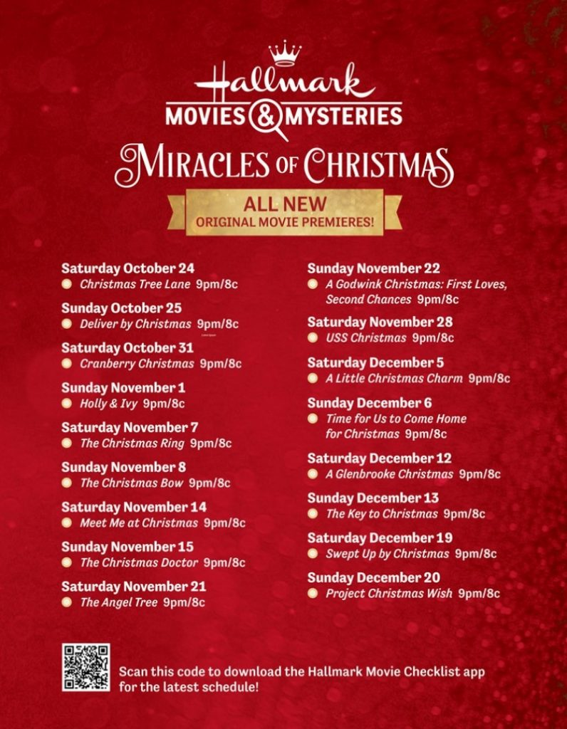 Hallmark Movies & Mysteries Miracles of Christmas movies 2020