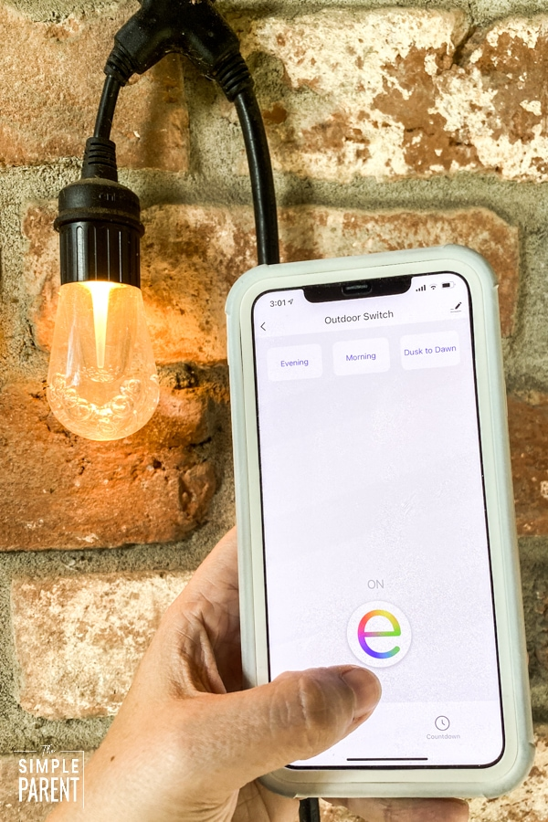 Enbrighten App turns lights on and off
