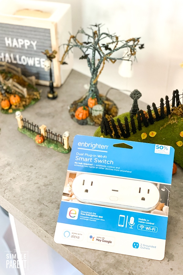 Smart Plug and Halloween Village Decorations