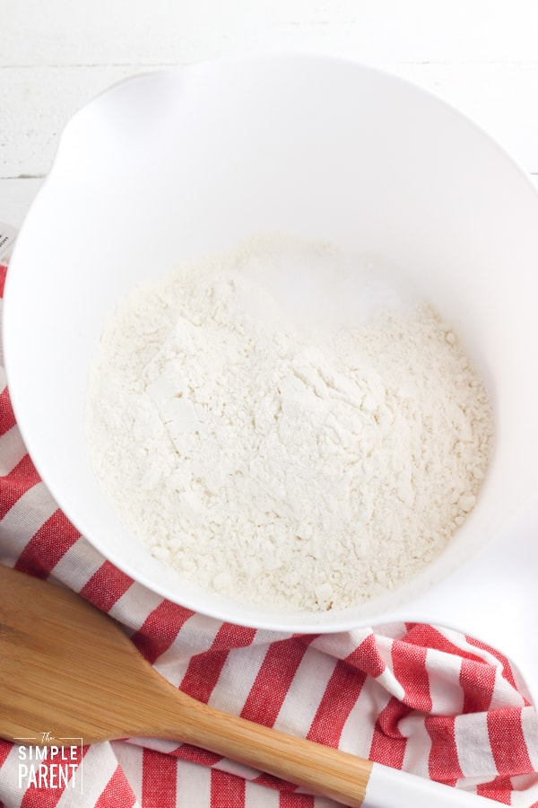 Flour and salt to make trash cookies