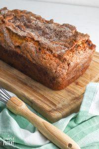 Amish Cinnamon Bread on cutting board