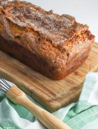 Amish Cinnamon Bread on cutting board