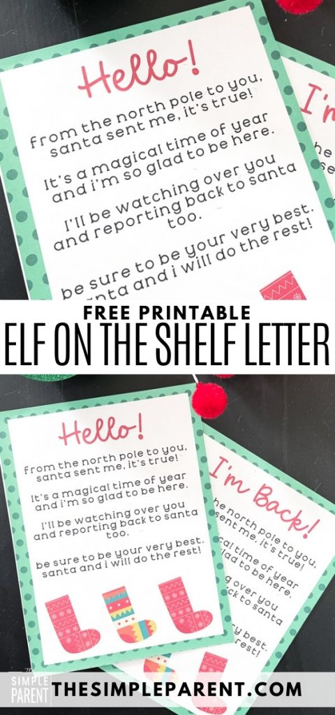 Free Printable Elf on the Shelf Letters