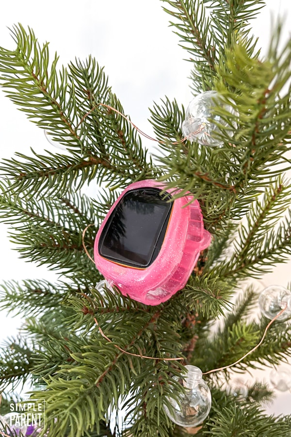 LOL Surprise Smart Watch sitting in Christmas tree