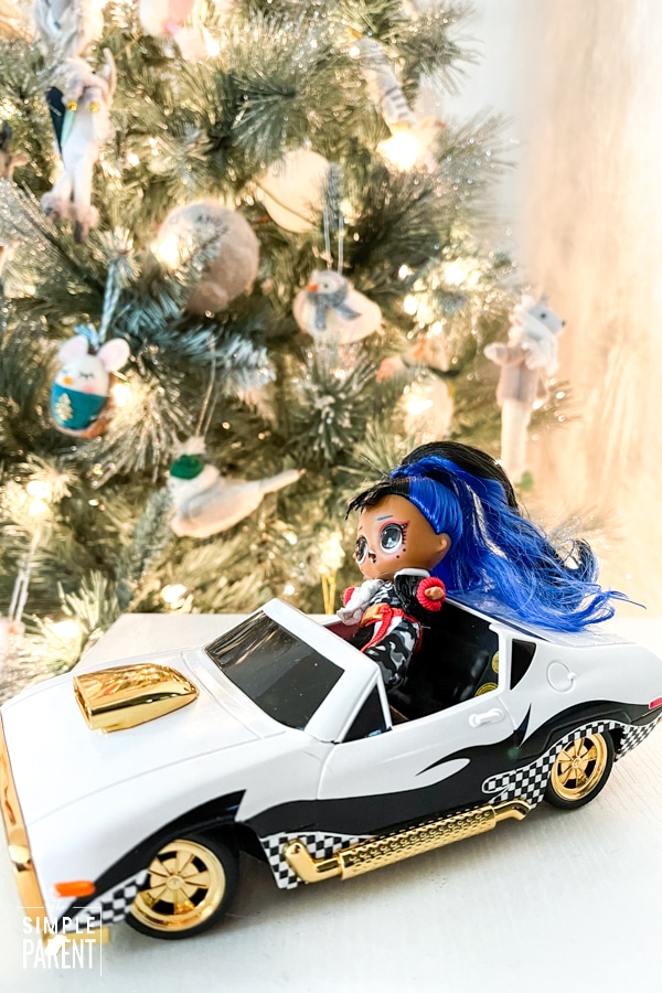 LOL Surprise RC Wheels in front of Christmas tree