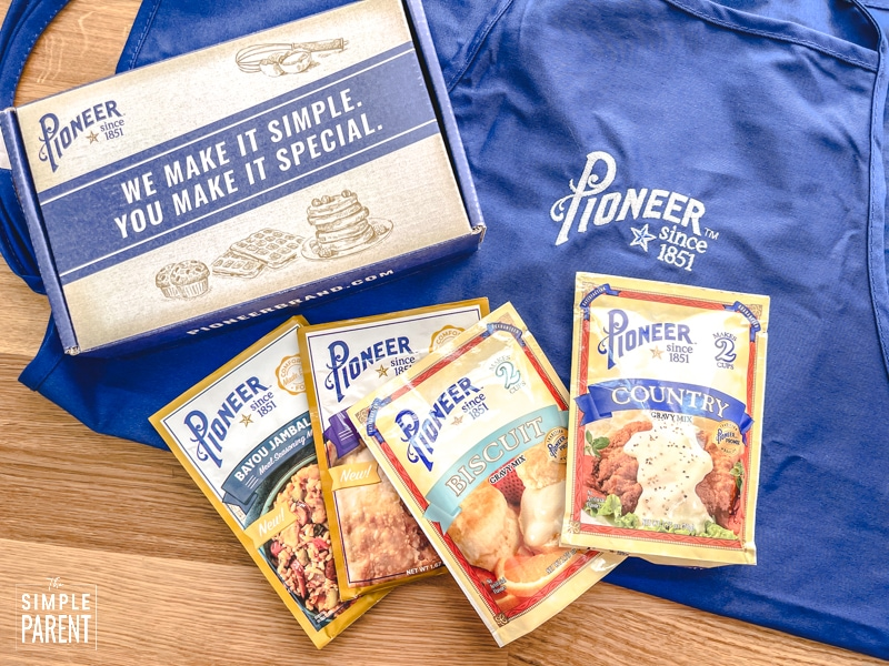 Pioneer Brand Mixes and blue apron