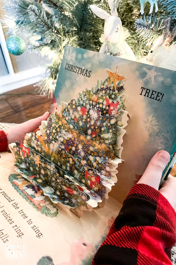 Pop up Christmas tree in Pick a Pine Tree book
