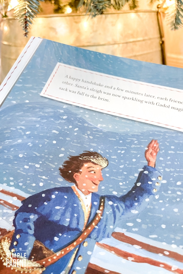 Page from The Hanukkah Magic of Nate Gadol book for kids