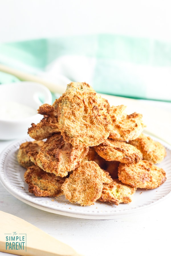 Plate of Air Fried Pickles