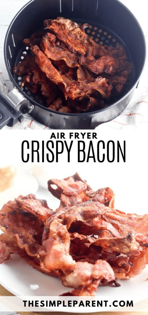 Recipe for how to make crispy bacon in air fryer