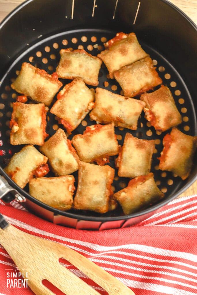 Pizza rolls in air fryer basket