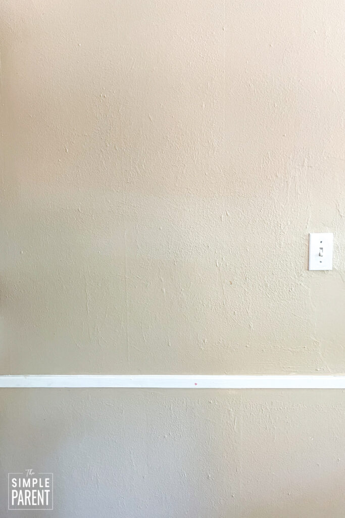 Wall painted with brown paint