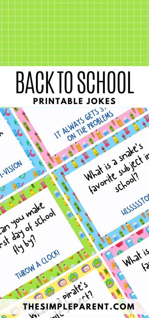 Printable Back to School Jokes for Kids