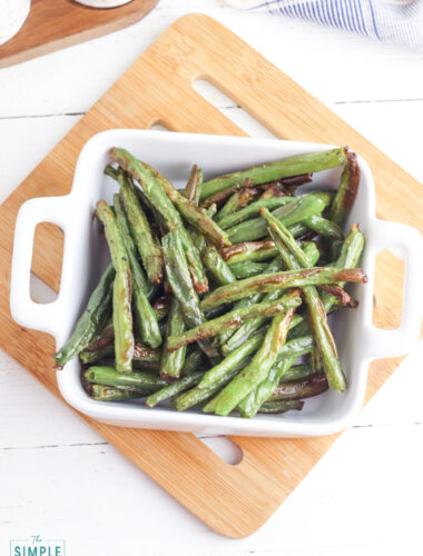 Roasted Green Beans Made in the air fryer