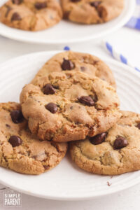 Air Fryer Cookies on white plate