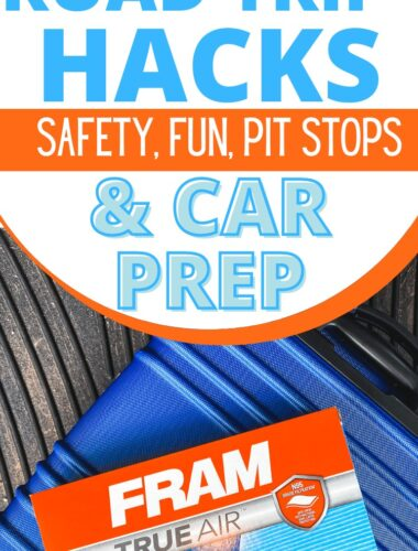 Family Road Trip Hacks for car prep, safety, entertainment and pit stops