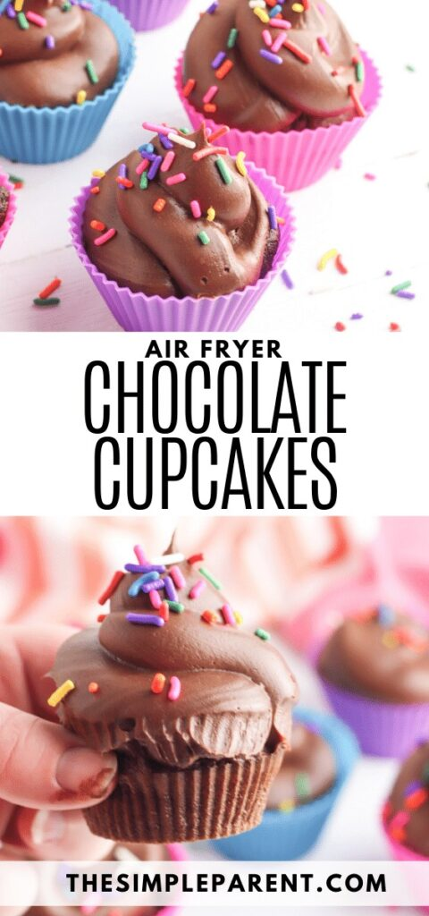 Chocolate Air Fryer Cupcakes