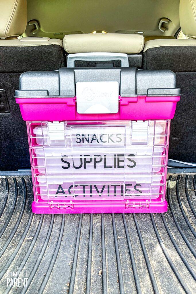 DOY Kids Car Survival Kit Customized with Cricut Joy