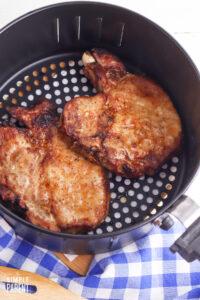 Cooked pork chops in air fryer