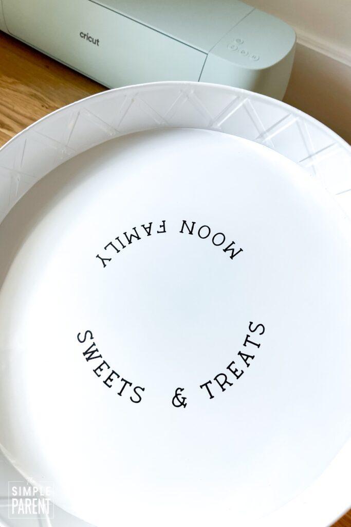 Custom serving platter