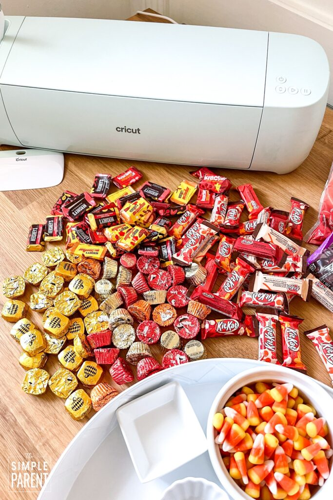 Fall themed candy with bandy board and Cricut Explore 3 machine