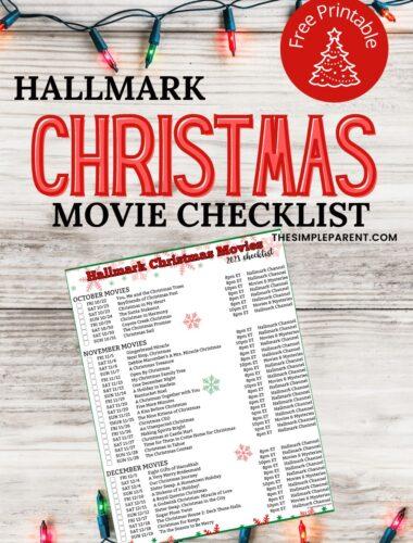 Printable Hallmark Christmas Movie Schedule